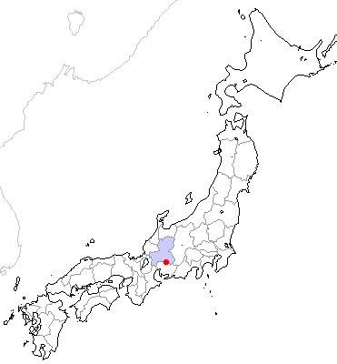 日本地図の中の多治見