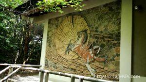 笠原神明宮のモザイクタイルレリーフ