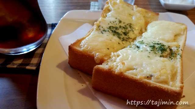 珈琲豆専門店 優貴珈琲工房のチーズトースト