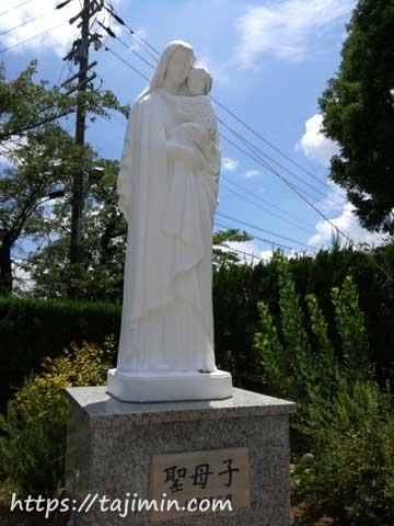 多治見修道院の聖母子像