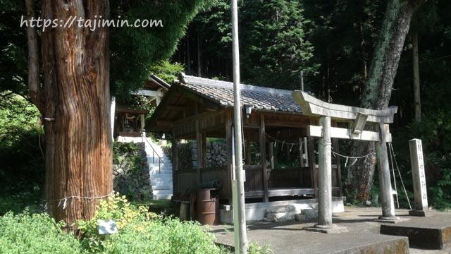【No.55】虎渓山と東栄町の田園コースの白山神社