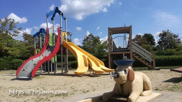 多治見・共栄公園の遊具広場
