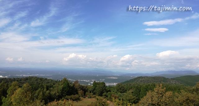 潮見の森、展望台からの眺め