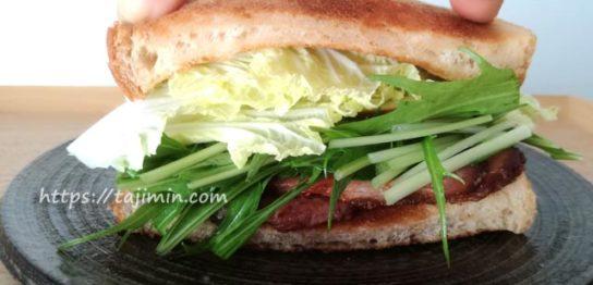 サンドイッチ作り