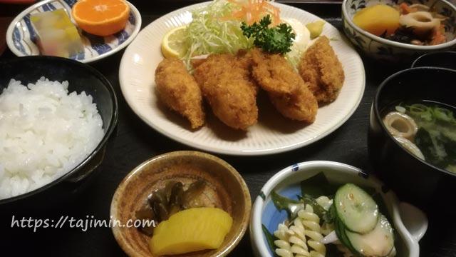和食処 あじ善(可児市)の牡蠣フライ定食