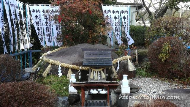 神明神社と牛岩様