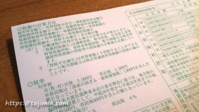市民税・県民税特別徴収額の決定通知書