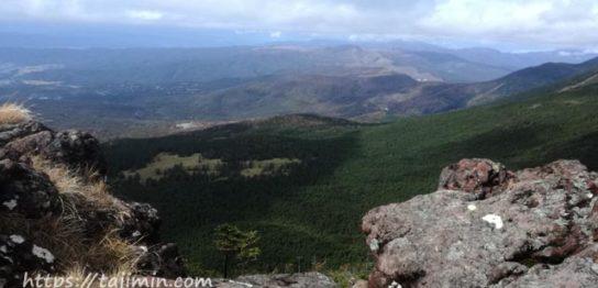茶臼山山頂からの眺め