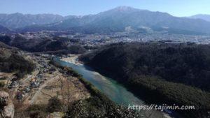 苗木城跡(中津川市)からの眺め