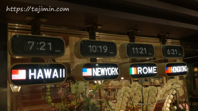 ながせ商店街のヒラクビル、世界時計
