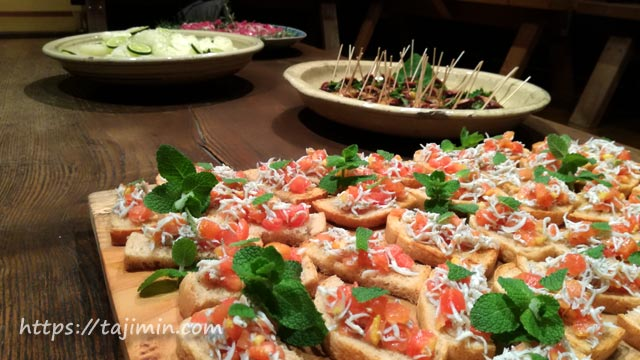 スペース大原にてhoshizumiのお料理