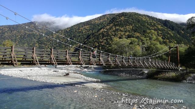 上高地散策、明神橋