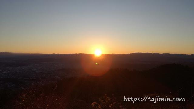 高社山2020年初日の出登山