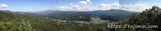 水晶山山頂からの眺め
