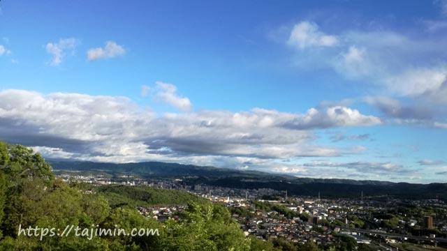 高根山の展望台からの眺め