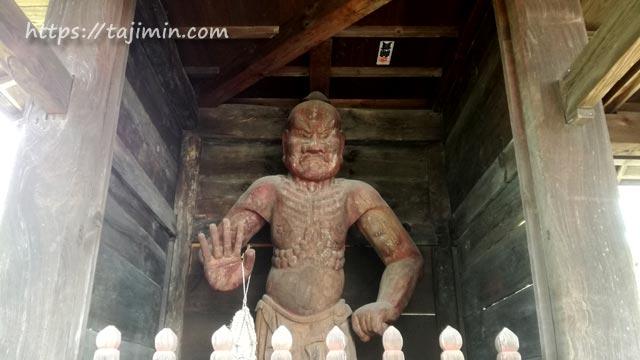 櫻堂薬師(瑞浪市)の仁王門仁王像